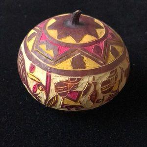 Handmade and hand painted Dry Pumpkin